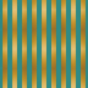 Stripes Teal and Gold