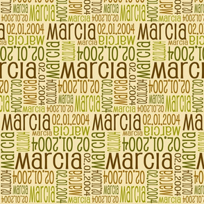 Personalised Name Fabric - Earth Tones