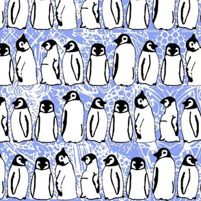 baby ice penguins cornflower blue