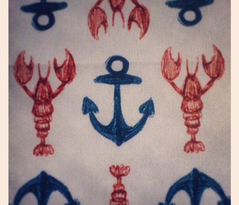 Lobster and Anchors