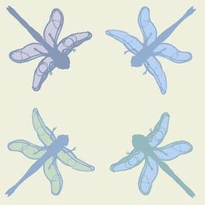 Pastel Dragonflies