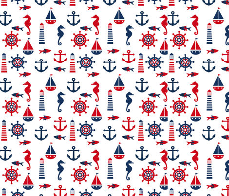 Navy fabric by valmo on Spoonflower - custom fabric