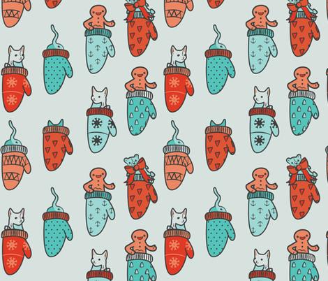 meow-y christmas fabric by annaboo on Spoonflower - custom fabric