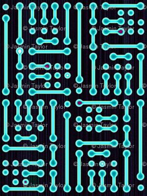 geometric circuit cyan