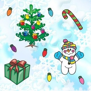 Snowman, Presents, Tress and more!