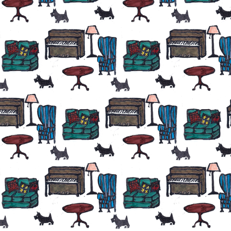 Scotties in the Parlor fabric by timaroo on Spoonflower - custom fabric