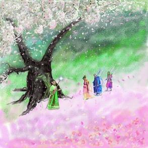 Cherry Blossom Ooak Fairies