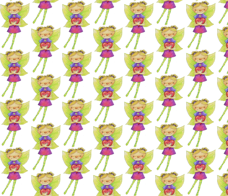 Fairy Valentine gift wrap fabric by mariannemathiasen on Spoonflower - custom fabric