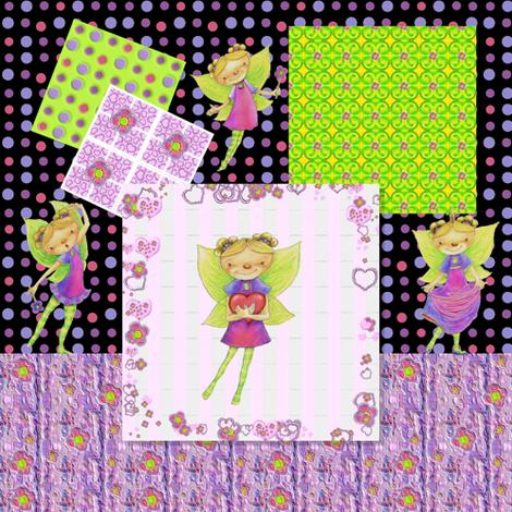Happy Fairy Birthday tablecloth fabric by mariannemathiasen on Spoonflower - custom fabric