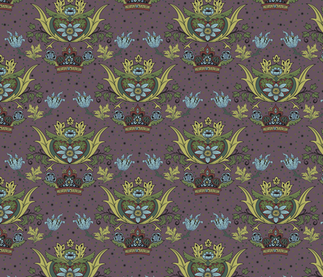 Marvellous Plummy Morris fabric by vixxin on Spoonflower - custom fabric