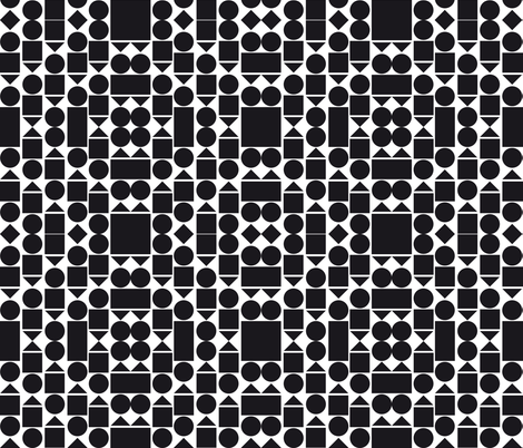 Bold Black And White fabric by arrpdesign on Spoonflower - custom fabric