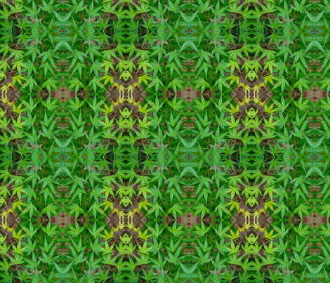 Green Japanese Maple Leaves 7328 fabric by falcon11 on Spoonflower - custom fabric