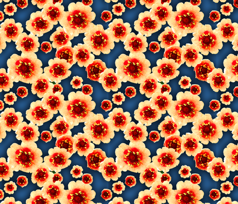 Orange Flowers fabric by nezumiworld on Spoonflower - custom fabric