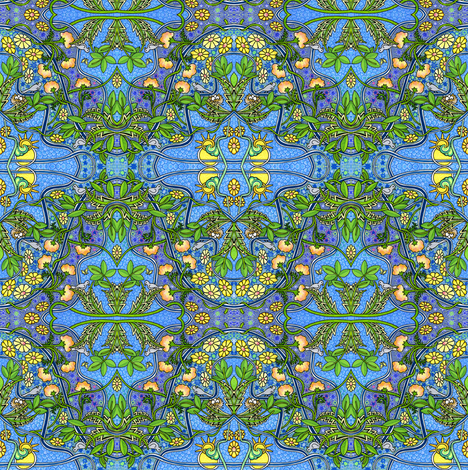 Make That Dang Bird Shut Up fabric by edsel2084 on Spoonflower - custom fabric