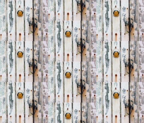 The Gate with a Face, Pondicherry, India fabric by susaninparis on Spoonflower - custom fabric