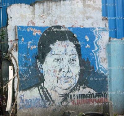 Street Art Chennai - Popular Politician