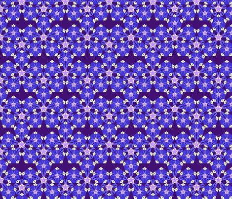 Night garden fabric by moirarae on Spoonflower - custom fabric