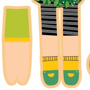 cut and sew doll - fat quarter