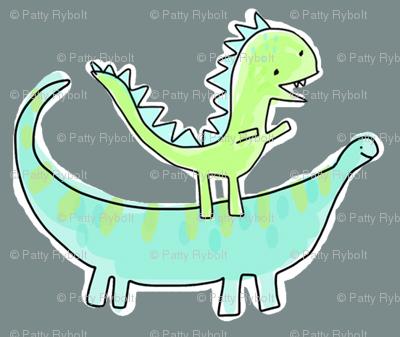 Stumpy-saurus   Li'l T-rex (smaller print)