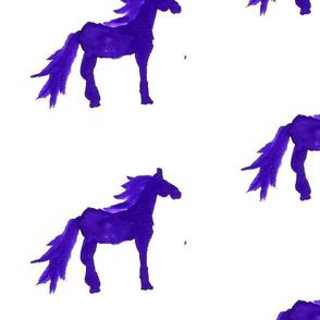 purple watercolor horse 2