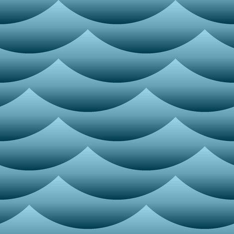 gradient wave zigzag - sailing fabric by sef on Spoonflower - custom fabric