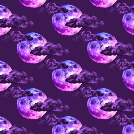 Halloween Spooky Moon fabric by trgatesart on Spoonflower - custom fabric
