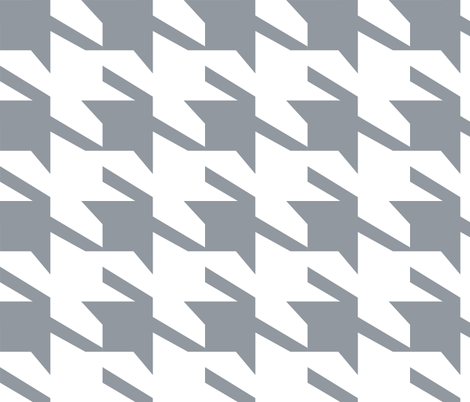 houndstooth_large fabric by holli_zollinger on Spoonflower - custom fabric