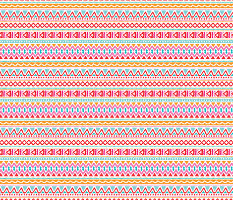 Ethnic colorful aztec design summer geometric triangles peru print fabric by littlesmilemakers on Spoonflower - custom fabric
