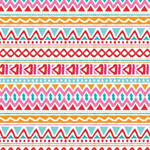 Ethnic colorful aztec design summer geometric triangles peru print