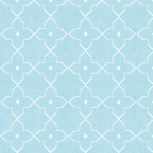 Moroccan Tile in Muted Morning Blues