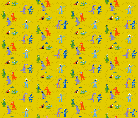 Play-leontology small scale fabric by cerigwen on Spoonflower - custom fabric