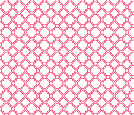 Penny's Trellis Watermelon Pink fabric by lulabelle on Spoonflower - custom fabric