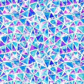 Cool purple and aqua triangle mosaic