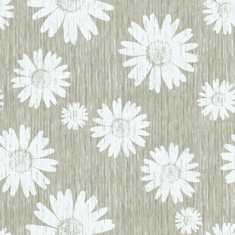 French Linen Daisy - Linen fabric by kristopherk on Spoonflower - custom fabric