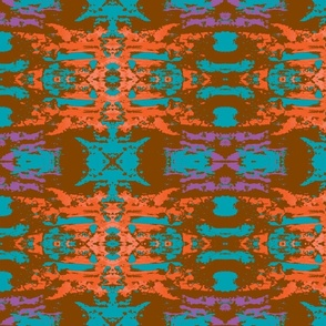 Brown, Teal, Orange Abstract