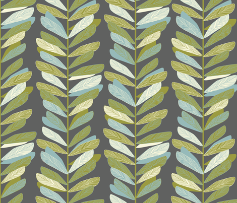 Branches - grey fabric by jillbyers on Spoonflower - custom fabric