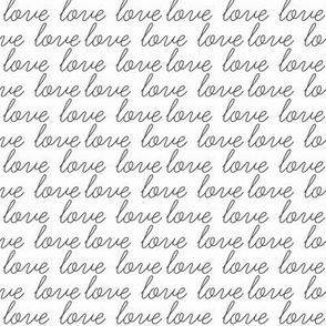 love script - black and white