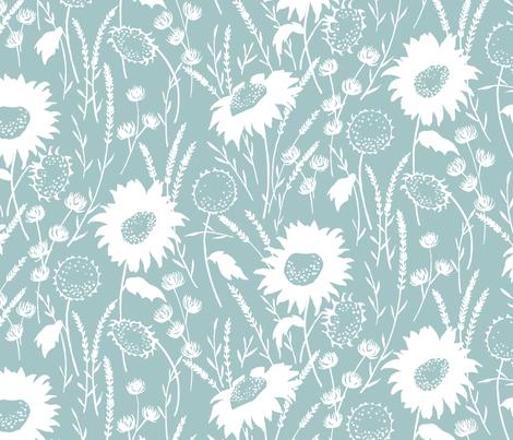wildflowers fabric by jillbyers on Spoonflower - custom fabric