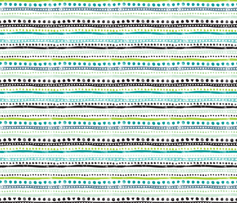 Ikat dots and stripes raw grunge textures aztec scandinavian style fabric by littlesmilemakers on Spoonflower - custom fabric