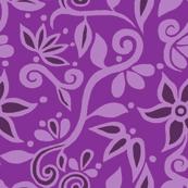 Rapunzel Skirt Floral PURPLE