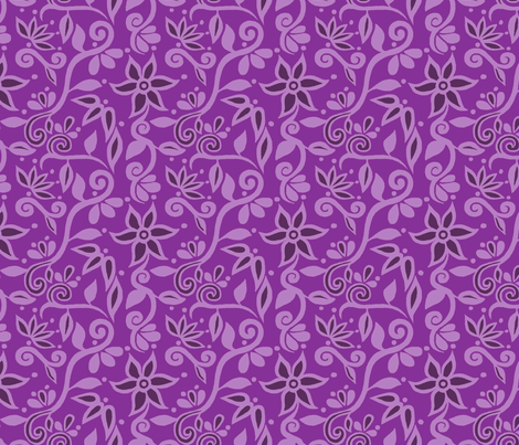 Rapunzel Skirt Floral PURPLE fabric by aimee on Spoonflower - custom fabric