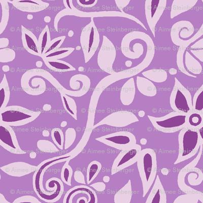 Rapunzel Bodice Floral PURPLE
