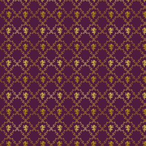 Lion Damask on Purple