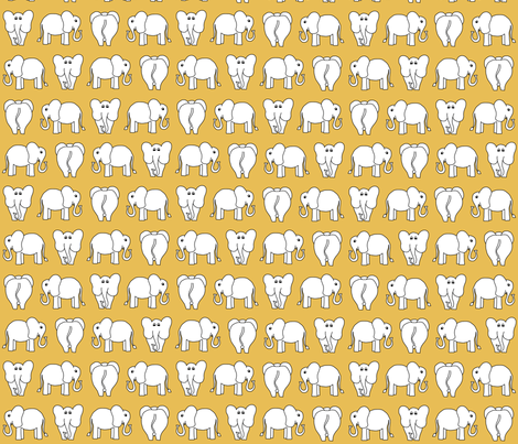 ELEPHANT PATTERN yellow fabric by biancagreen on Spoonflower - custom fabric