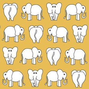 ELEPHANT PATTERN yellow