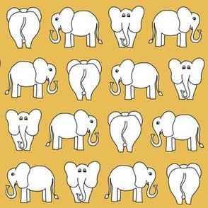 ELEPHANT PATTERN yellow
