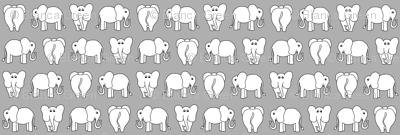 ELEPHANT PATTERN grey