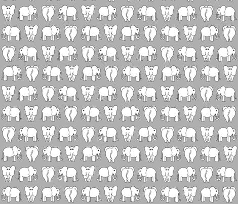 ELEPHANT PATTERN grey fabric by biancagreen on Spoonflower - custom fabric