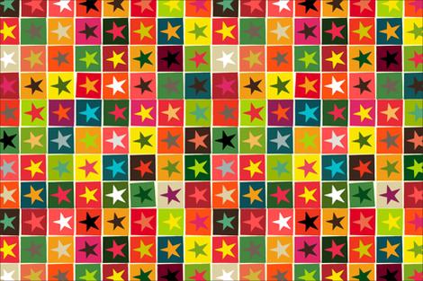 christmas boxed stars tea towel fabric by scrummy on Spoonflower - custom fabric