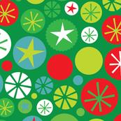 Xmas Circles Green